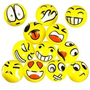 Emoji Stress Squeeze Balls (25 Pack) Fun Novelty Party Favor Holiday Class and Therapy Gift (Other Size Packs Available)