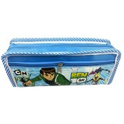 Evisha Ben10/Cartoon Character Pencil Pouch/Case For School Going Kids/Birthday Return Gift Colour Blue