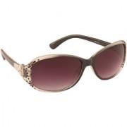 ADINE Women's Black UV Protection Oval Full Rim Sunglasses