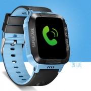 Y21 Children Smart Phone Watch Anti-lost Remote Control Touch Screen SOS Wrist Watch - Black / Blue