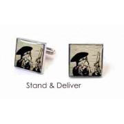 Tyler & Tyler Stencilart White Bricks Cufflinks Stand & Deliver