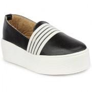Vaniya shoes Black Mid Calf Bootie Boots
