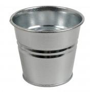 Dille&Kamille Pot de fleur, zinc, naturel,Ø 17 cm