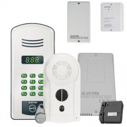 Kit interfon de bloc Electra KIT.20A.Y22, 20 familii, RFID, 40 tag-uri