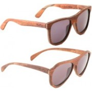 Wood Eye Wayfarer, Aviator Sunglasses(Grey)