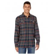 Columbia College Illinois Fighting Illini Collegiate Flare Guntrade Flannel Long Sleeve Shirt Collegiate Navy Plaid