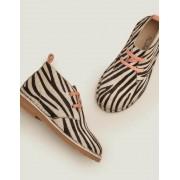 Mini Schwarz/Weiß, Zebra Desert Boots zum Schnüren Mädchen Boden, 27, Black