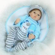 Pinky 22 Inch Soft Silicone Babies Reborn Dolls Realistic Looking Baby Boy Lifelike Newborn Doll Toddler Birthday Xmas Gift