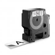 Etichete autocolante plastifiate DYMO LabelManager D1 24mm x 7m negru alb 53713 S0720930