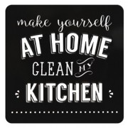 tinnen magneet - make yourself at home clean my kitchen