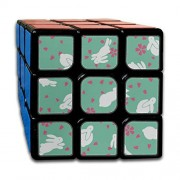 JUNJIEshop Custom 3x3 Speed Cubes Los Mejores Juguetes de Entrenamiento Cerebral 3x3x3 Cute Cartoon Childlike Clevr Rabbit 3x3 Magic Speed Cube Party Game para niños niñas niños pequeños-55 mm