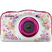 Nikon W150 Flowers Digitale camera 13.2 Mpix Zoom optisch: 3 x Bloemen, Wit Waterdicht, Stofdicht, Schokbestendig, Bluetooth, Onderwatercamera