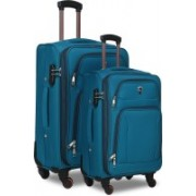Novex Atlanta - Pack of 2 (24 inches and 20 inches) Expandable Check-in Luggage - 24 inch(Blue)