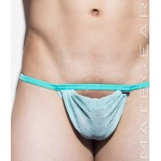Mategear Wu Jung Braided Back Straps Xpression Mini Jock Strap Underwear Light Turquoise/Gold 1430901