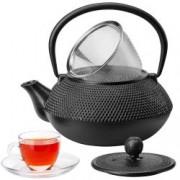 Ceainic din Fonta cu Infuzor VonShef 1000159, Design Japonez Tetsubin, 800ml