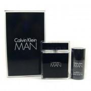 Calvin Klein Man Комплект (EDT 100ml + Deo Stick 75ml) за Мъже
