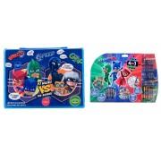 Pachet Eroi in Pijama - Set pictura 68 piese + Mega set de colorat 5 in 1