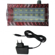 X-EON (TM.) XE-ECL1707 Maroon -12 Watt Bright Rechargeable Emergency LED Light With Wall Hanging with Charging Adopter