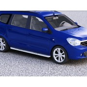 Protection laterales ovales INOX 90 DACIA LODGY 2012- - CE accessoires 4X4 ANTEC