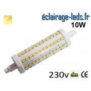 Ampoule LED R7S 10w smd 2835 118mm blanc chaud 230v ref r7s-09