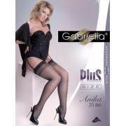 Gabriella - Elegant plus size stockings with subtle diamond pattern Anika 20 DEN