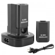 Meco Dual Charger Base Charging Station Dock with 2 Rechargeable Battery 4800mAh Xbox 360 Controller