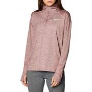 Nike Element (de Medio Cierre) Camiseta de Manga Larga para Mujer, Color Smokey Mauve/Reflective Silver, XS