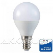 V-TAC E14 4.5W 470lm 4000K 180 ° LED-izzó SAMSUNG chipes