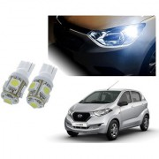 Auto Addict Car T10 5 SMD Headlight LED Bulb for Headlights Parking Light Number Plate Light Indicator Light For Datsun Redi Go