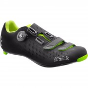 Fizik R4B Road Shoes - Black/Fluro Green - UK 10.5/EU 45 - Black/Fluro Green