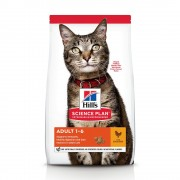 15кг Adult 1-6 Optimal Care Hill's Science Plan, суха храна за котки с пиле