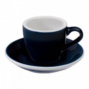 "Loveramics Espresso cup with a saucer Loveramics ""Egg Denim"", 80 ml"