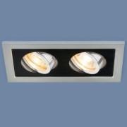 Встраиваемый светильник Elektrostandard 1031/2 MR16 SL/BK серебро/черный