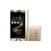 Smartphone Asus Zenfone 3 Deluxe Snapdragon Dual Chip Android 6 Tela 5.7 64GB 4G Wi-Fi Câmera 23MP - Dourado