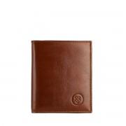 Leder Herren Geldbörse mit Münzfach in Cognac Braun - Brieftasche, Portemonnaie, Geldbeutel, Kreditkartenetui