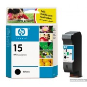 HP 15 Black Inkjet Print Cartridge, 25ml (C6615DE)