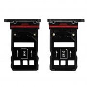 Clappio Repuesto Bandejas Tarjetas Nano SIM Negras para Huawei Mate 20 Pro