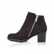 River Island Girls Black zipped ankle boots (Size 10 Junior)
