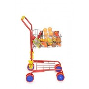 Pretend Play Shop 'N' Go Toy Shopping Cart with 36 pc Play-Food