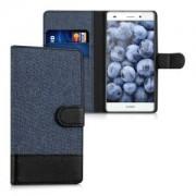 kwmobile Flipové pouzdro pro Huawei P8 Lite - tmavě modrá