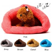 Cat Dog House Puppy Sleeping Bed Cushion Mat Pad Cave Pet Igloo Soft Kitten Nest Home