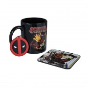 Marvel Deadpool, Presentset - Mugg, Underlägg, Nyckelring