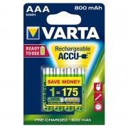 Pilhas AAA Recarregáveis Varta Ready2Use - 800mAh