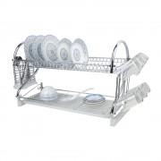 Сушилник за чинии SAPIR SP 3000 F1, Две нива, Поставки за чаши и прибори, Хром