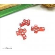 Mărgele cruce cu ștrasuri (100g ~ 230 buc)
