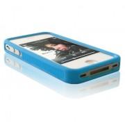 Housse silicone Bumper Apple iPhone 4 / 4S - Bleu
