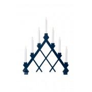 Ljusstake Rut 53 cm Blå