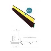 Profil przyokienny dylatacyjny w kolorze brąz z uszczelką B=6mm L=3m 25szt
