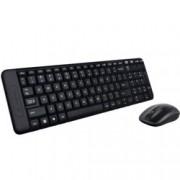 Logitech MK220, безжична, комплект клавиатура и мишка, USB, черни, не кирилизирана