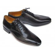 Paul Parkman Side Handsewn Leather Upper Leather Sole Oxford Shoes Black 018-BLK